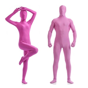 Adult Full Body Spandex Lycra Zentai Suit Purple Pink Tight Suits Pure Color Halloween Party Unitard can be Customized