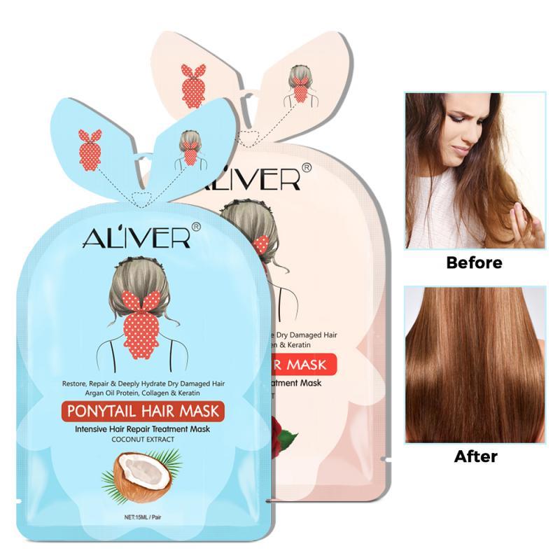 Маска для ухода за натуральными волосами, 15 мл, маска для ухода за хвостом, глубокое питание, мембрана для восстановления волос, маска для лечения волос