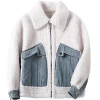 real shearling 100 fur sheep coat autumn winter wool coats and jackets women clothes 2020 korean jacket hiver 2481