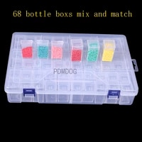 new 5668 cells transparent organizer storage case for diamond painting embroidery accessories tool container home storage box
