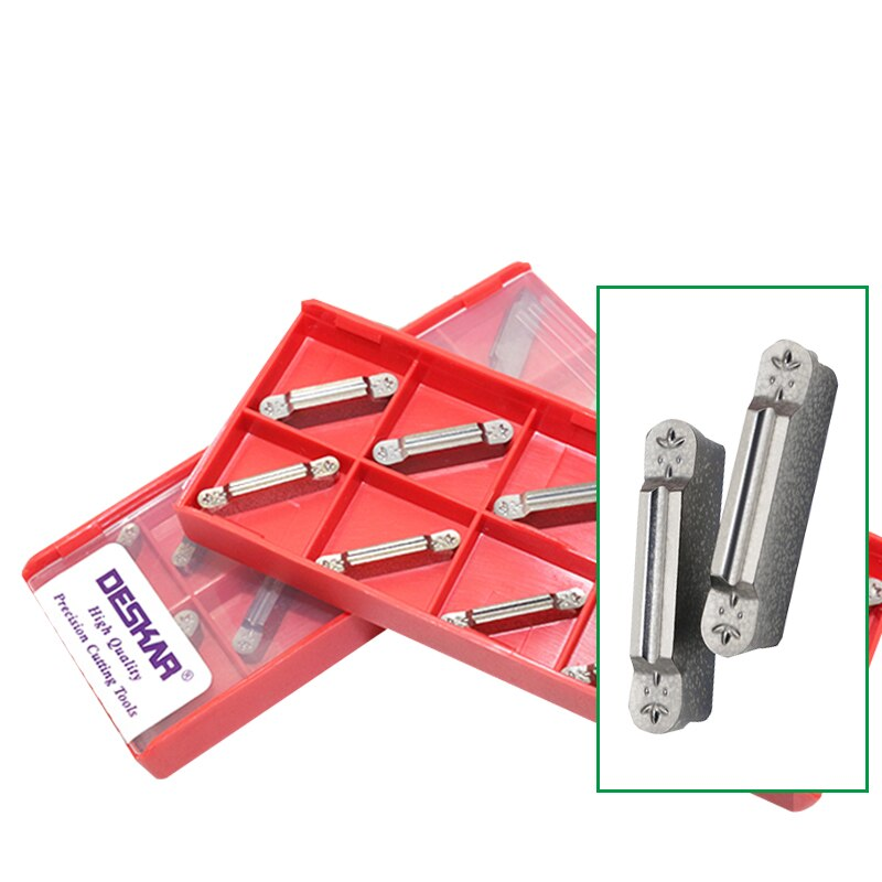 10Pcs DESKAR MRMN200 MRMN300 MRMN400 K10 Grooving Carbide Insert CNC lathe cutter For Aluminum high quality machining