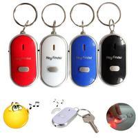 New Anti-Lost Alarm Key Finder Locator Keychain Whistle Sound Control Alarm With LED Light Mini Anti Lost Key Finder Sensor HOT