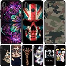 Camouflage pour Huawei Honor 8 9 10 20 Lite 7A Pro 7C 8A 8S 8X 8C 9X View 20 V20 étui souple Silicone couverture téléphone dos Capa Etui
