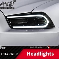 head lamp for car dodge charger 2011 2014 headlights fog lights daytime running lights drl h7 led bi xenon bulb car accessories