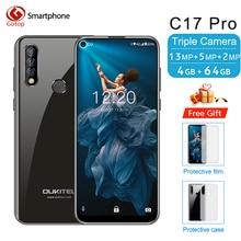 "OUKITEL C17 Pro 6.35 ""199 Android 9.0 téléphone portable MT6763 Octa Core 4G RAM 64G ROM Face ID 4G LTE 3900mAh batterie Smartphone"