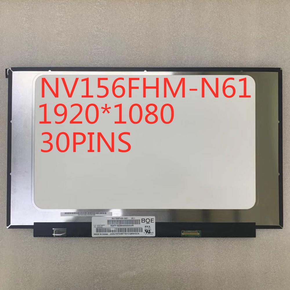 شحن مجاني 15.6 بوصة ضيق حافة IPS LCD NV156FHM-N61 FHD 1920X1080 72%