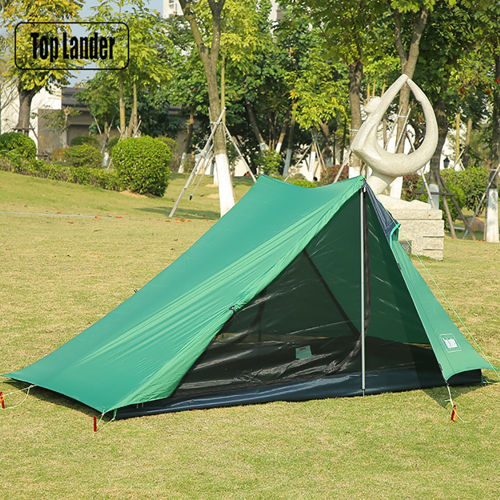 A Peak Ultralight Tent 1 2 Person for Waterproof Camping Hiking Backpacking Poleless Solo Bivvy 20D Silicone No Pole Tent
