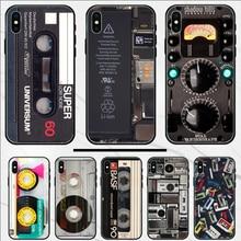 Vintage magnetband Kassette audio band abdeckung Telefon Fall Für iphone 4 4S 5 5S SE 5C 6 6S 7 8 plus X XS XR 11 PRO MAX shell