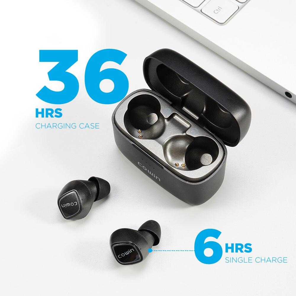 COWIN KY02[Upgraded] TWS True Wireless Earphones Bluetooth Sport Earbuds with Microphone, 36H Playtime, IPX5 Waterproof enlarge