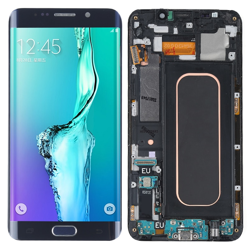 Display No Defect Original For Samsung Galaxy S6 edge plus LCD With Frame G928F 928T Touch Screen Display 5.7 Inch Assembly OLED enlarge