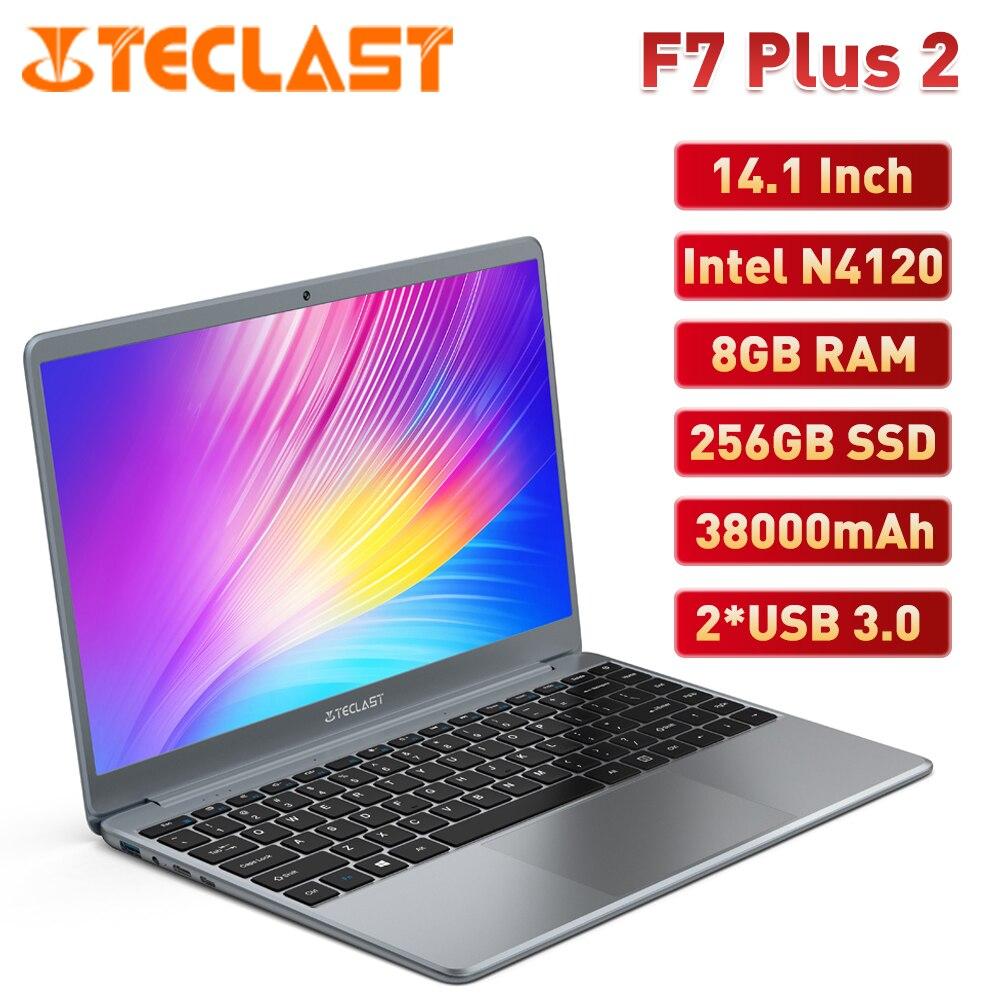 Teclast F7 Plus 2 Laptop 14.1 Inch Notebook Intel Gemini Lake N4120 Quad Core 2.6GHz 8GB RAM 256GB SSD FHD Notebooks Windows 10