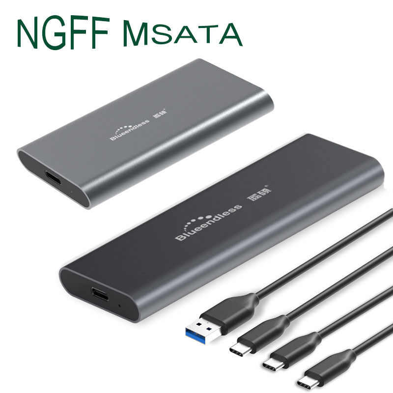 New SSD Case Hdd Box Sata Type c Usb 3.0 Port Hard Disk Carcasa Disco Duro 1tb Case Hd Externo Aluminum High Speed Hdd Enclosure