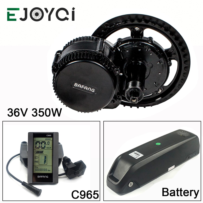 Bafang 36V 350W MMG340 16Ah batería de iones de litio BBS01B 48T 52T rueda de cadena Ebike medio Motor de conversión Kit para bicicletas