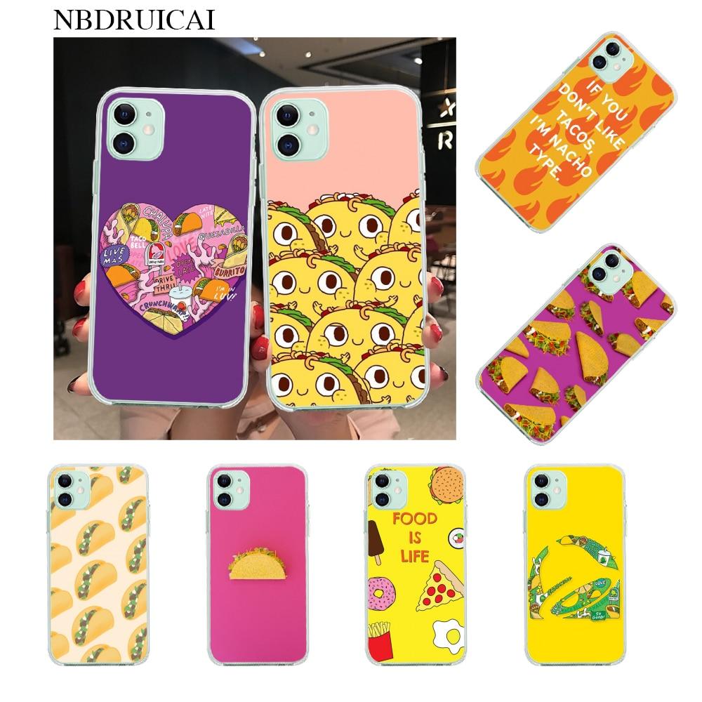 NBDRUICAI Super Taco Phone Case for iPhone 11 pro XS MAX 8 7 6 6S Plus X 5S SE XR case