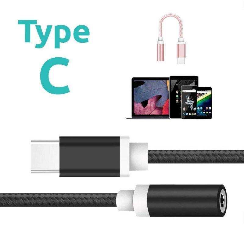 Adaptador USB, USB tipo C a 3,5mm auriculares con micrófono adaptador de Cable USB-C a Jack de 3,5mm Cable Aux para Letv 2 2pro Max2 Pro 3 Xiaomi 6 TXTB1
