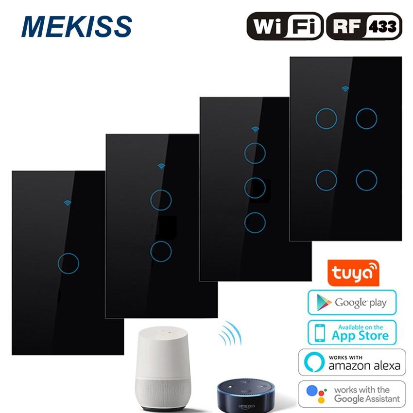 Interruptor de luz táctil inteligente con Wifi, interruptor de luz con conexión...