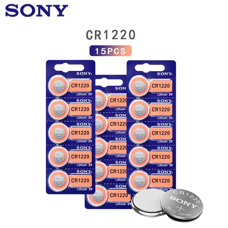 15pcs Sony Baterias Botão Bateria De Lítio de Célula tipo Moeda LM1220 BR1220 DL1220 CR1220 3V CR 1220 Para O Relógio de Brinquedo Eletrônico Remoto