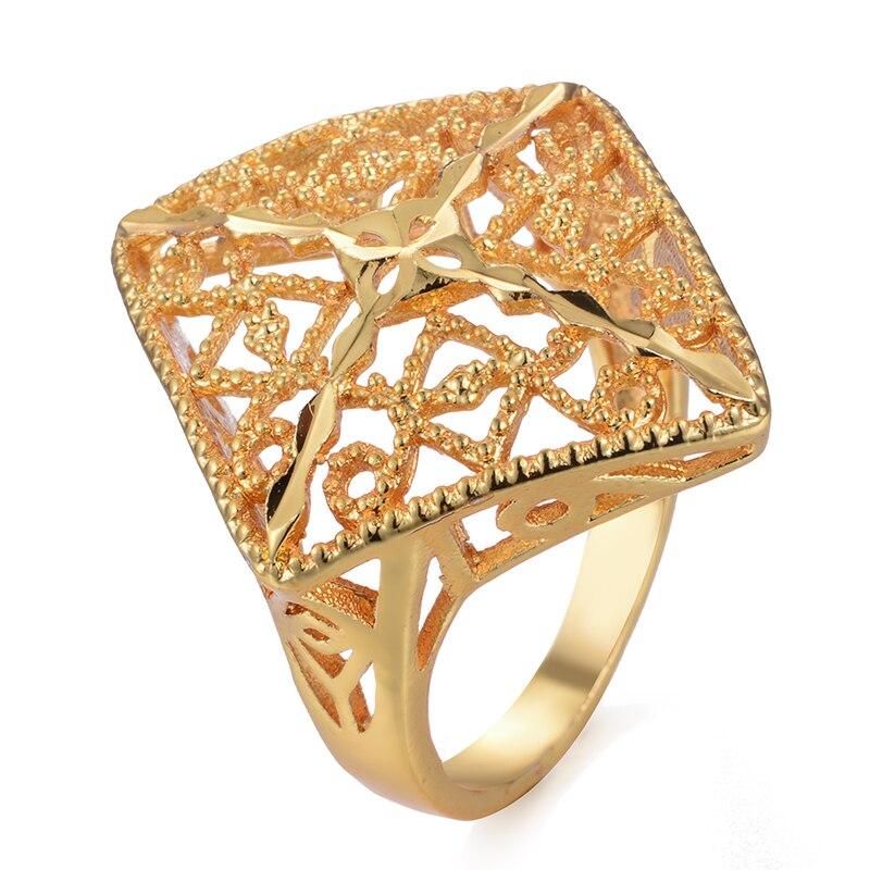 Etíope 24 k ouro cor anel para mulher etíope casamento anel índia/etíope/africano/nigeriano/israel/árabe itens