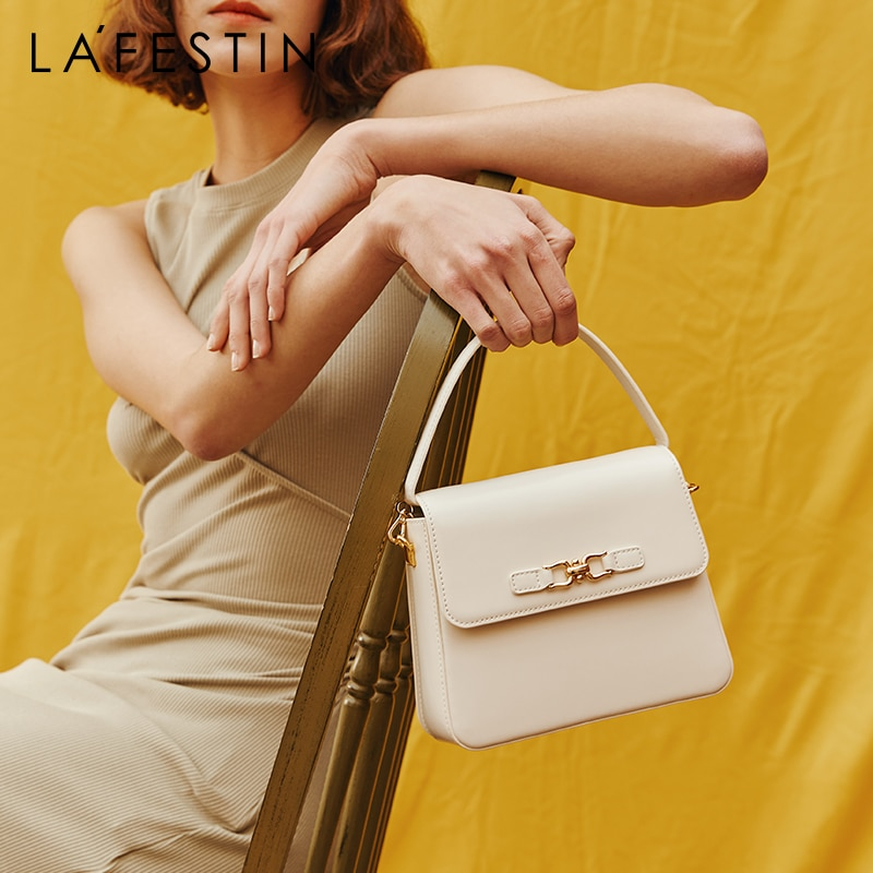 LA FESTIN مصمم حقائب 2021 جديد واحد الكتف حقيبة ساعي الموضة النسائية صندوق مربع صغير جودة عالية ضوء الفاخرة