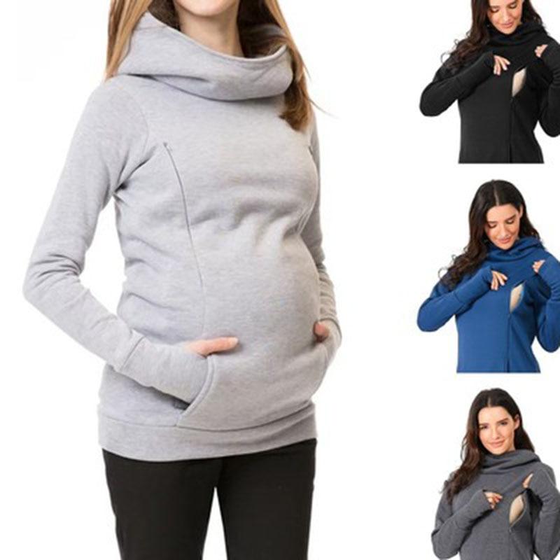 Одежда для беременных женщин Одежда для кормящих матерей теплая толстовка для беременных Одежда для кормящих беременных женщин Одежда для ...