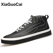 2020 Spring Autumn Men Casual Shoes High Top Man Sneakers Lace Up Breathable Leather Fashion Trend M