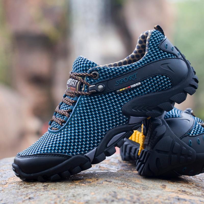 Scarpe da arrampicata in pelle di mucca di alta qualità scarpe da pesca da Trekking da uomo scarpe da campeggio in Lycra traspirante da donna all'aperto