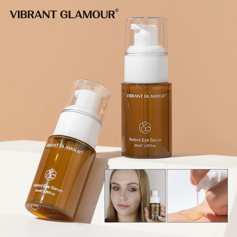 VIBRANT GLAMOUR Retinol Eye Serum Anti-Wrinkle Remove Eye bags Fade Fine lines Dark Circles Brighten Whitening Skin Care 30ml
