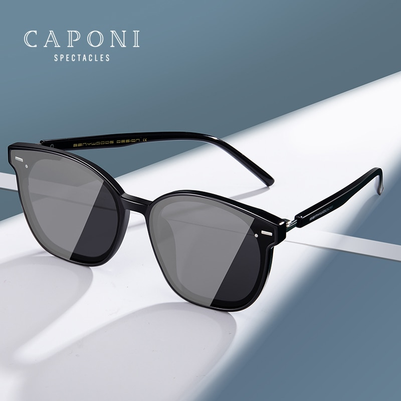 CAPONI Unisex Sun Glasses Luxury Design Brands Couple Gentle Sunglasses Nylon Lens New Trending Uniq