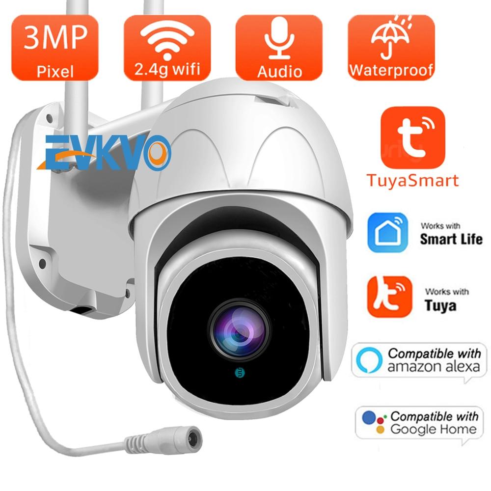 3MP Wifi TUYA Camera Smartlife Cloud PTZ IP Camera Outdoor Auto Tracking Google Home Alexa Video Surveillance CCTV Security Cam