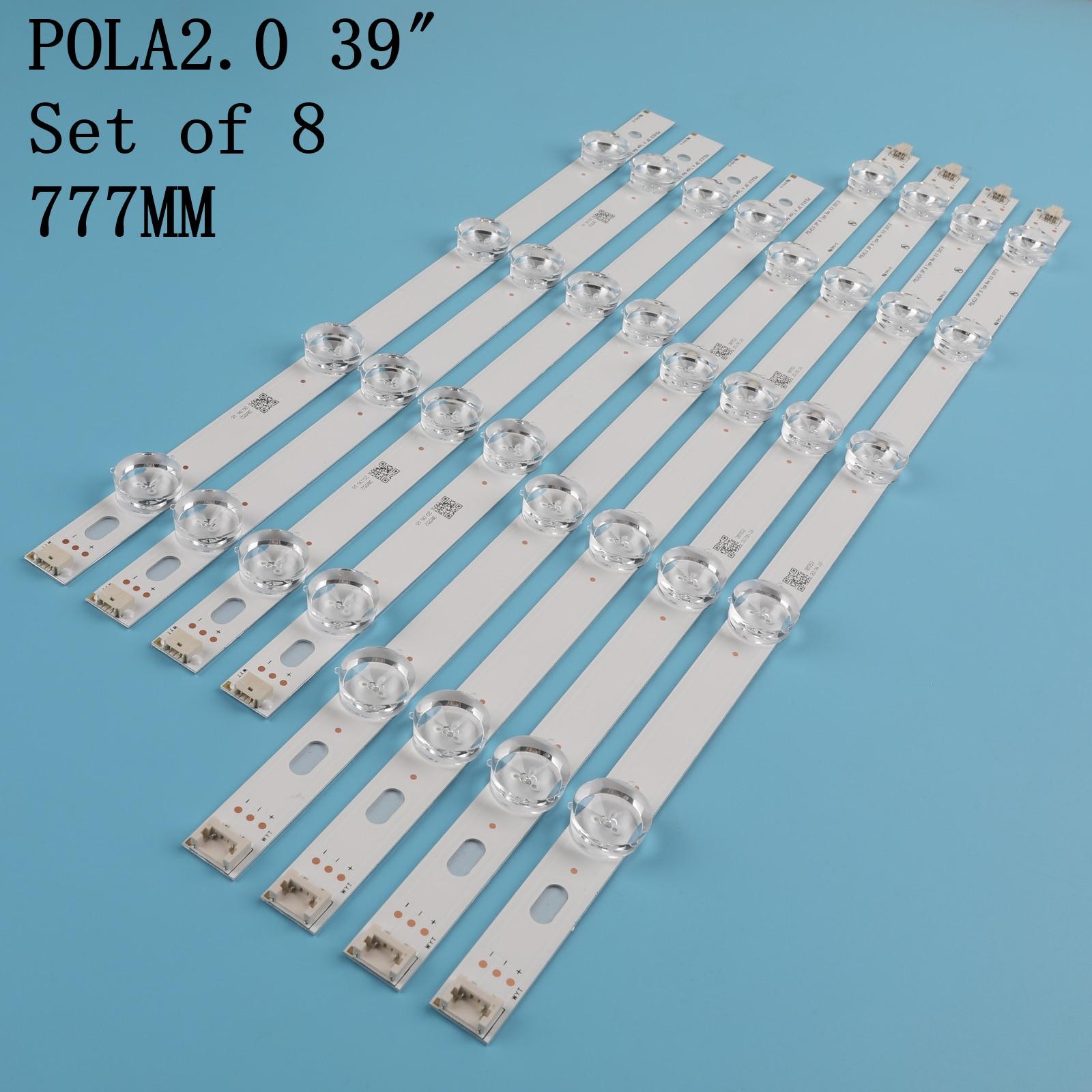 """8 pcs retroiluminação LED tira Lâmpada Para LG 39 9 """"TV LG 39LN5100 INN0TEK POLA2.0 39 39LN5300 39LA620S POLA 2.0 39LN5400 HC390DUN-VCFP1"""