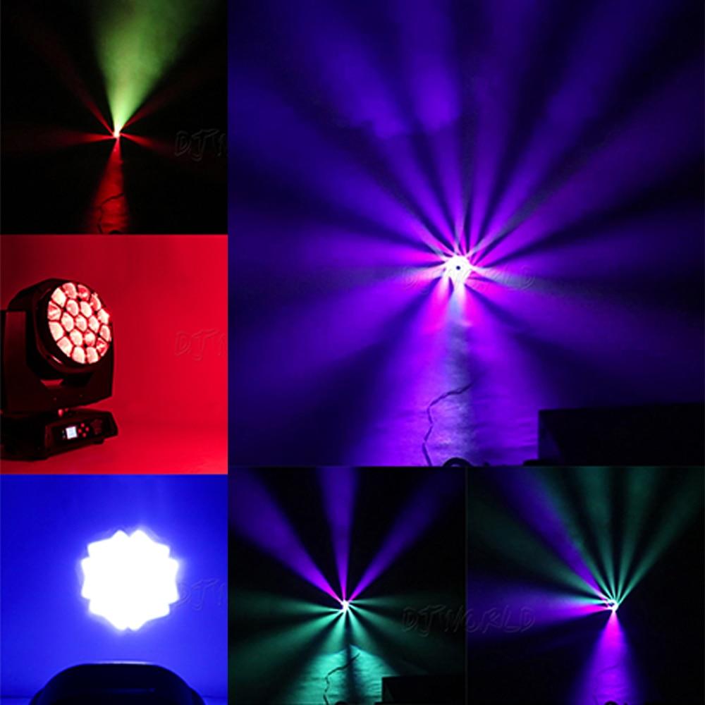 Djworld LED Beam Wash Light Bees Eyes 19x15W RGBW Moving Head Lighting Zoom Light +Для DJ Nightclub Party Disco Effect Stage Lig