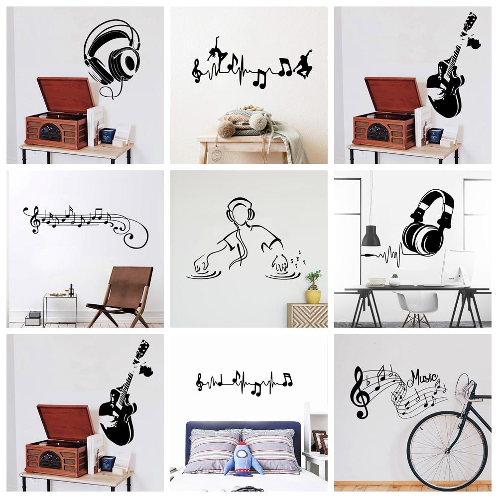 Декоративная музыкальная Наклейка на стену для детской комнаты, Декор для дома, спальни, настенные наклейки на стену, наклейки на стену