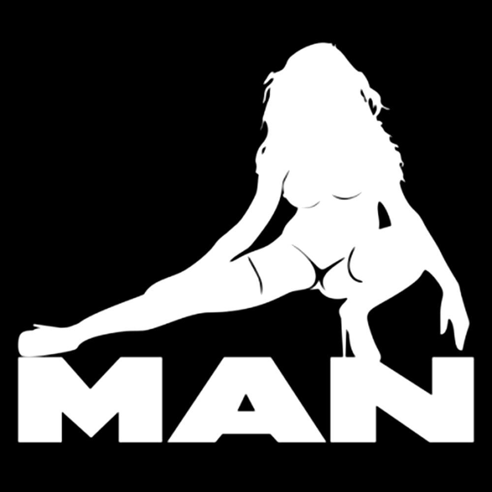 Креативная забавная виниловая наклейка с изображением мужчины девушки и сексуального мужчины, серебряная/черная для мотоциклов, автомобил...