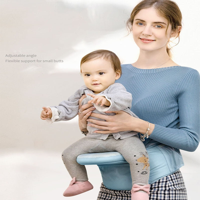 multi function baby sling front hug baby waist stool single stool child holding belt four seasons holding baby artifact Baby Waist Stool Four Seasons Breathable Multifunctional Front Holding Seat Stool Toddler Lightweight and Comfortable Carriers