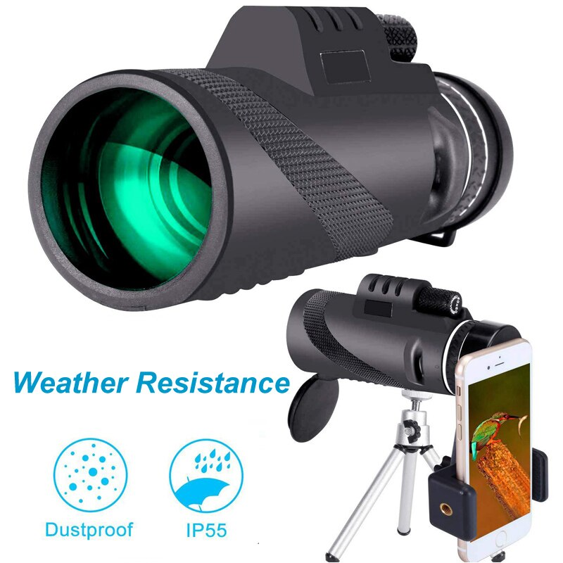 High Definition Monocular Telescope With Military Zoom HD Professional For Hunting camping 40x60 Waterproof