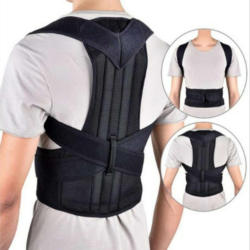 Postura Corrector ortopédico cinturón ajustable corsé clavícula columna vertebral hombro Lumbar recto corrección forma correas XS 4XL
