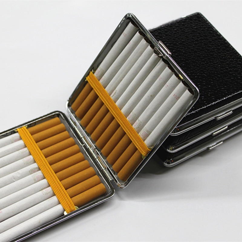 Caixa de cigarro de couro presente dos homens caixa de cigarro de negócios charuto caso gadget para fumar ferramentas