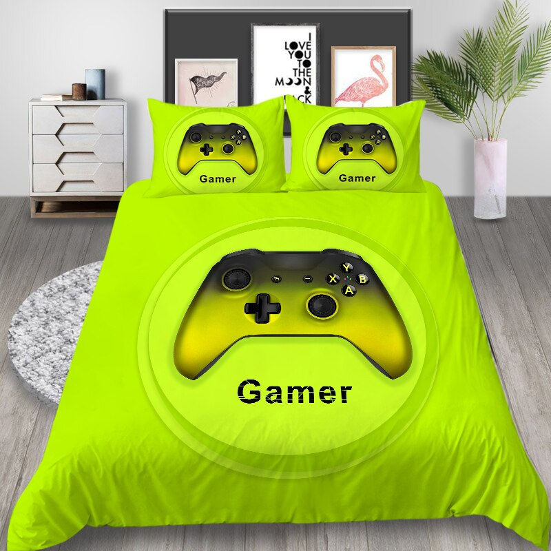 3D Bedding Set Game Bed Sets Boys Gamer Comforter Gaming Themed King Queen Full Double Single Size