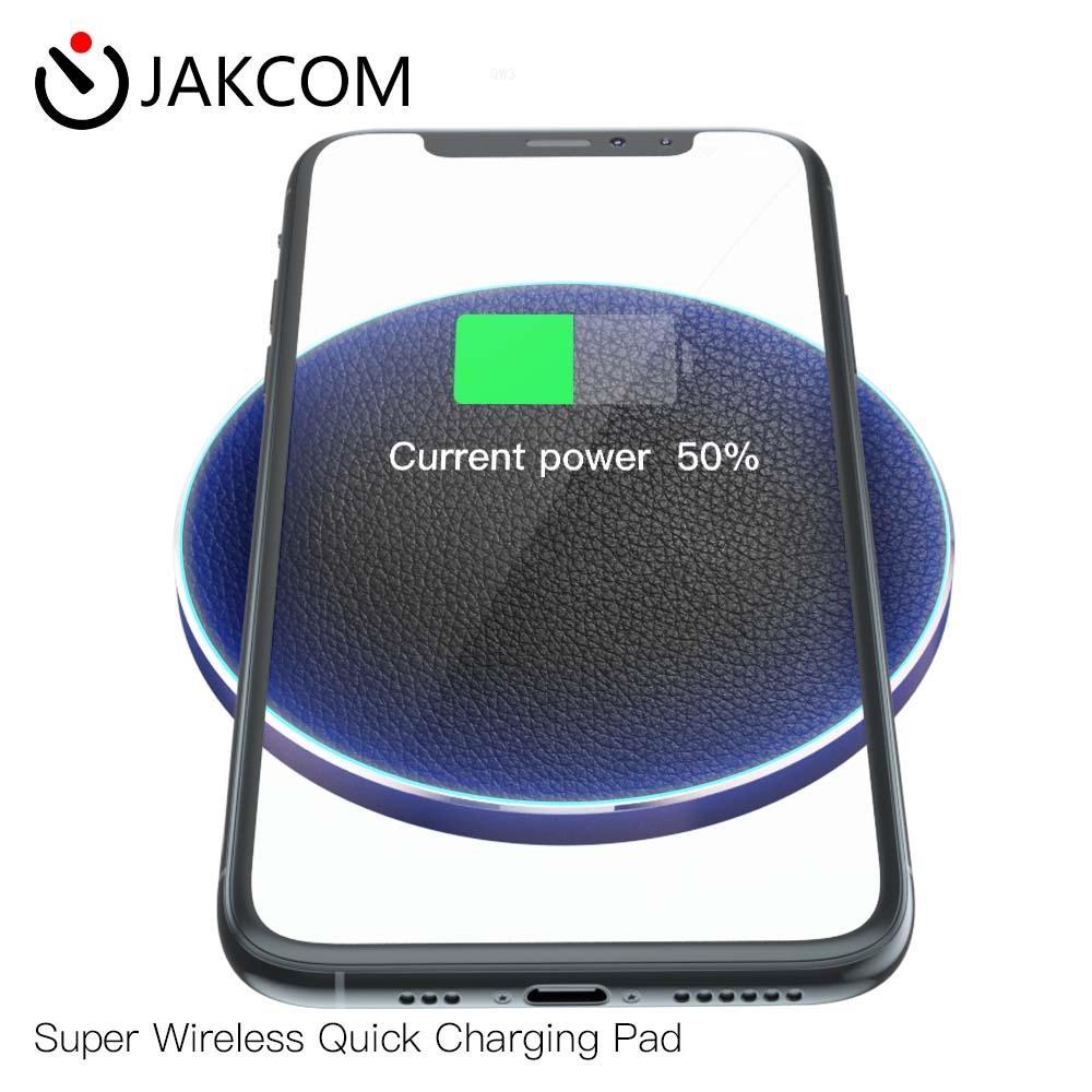 Almohadilla de carga rápida súper inalámbrica JAKCOM QW3, compatible con estación de carga rock, cargador inalámbrico bq, lámpara de mesa 6s plus, carga
