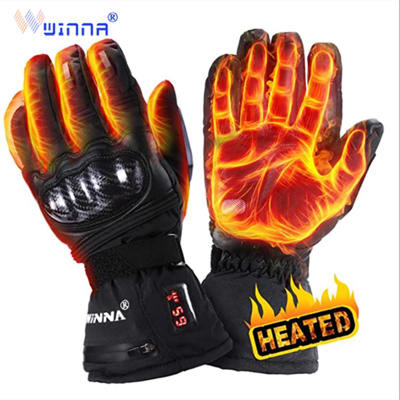 Unisex 2200mAh electric heating gloves waterproof and windproof heating gloves winter sports bike riding ski charging warm glove