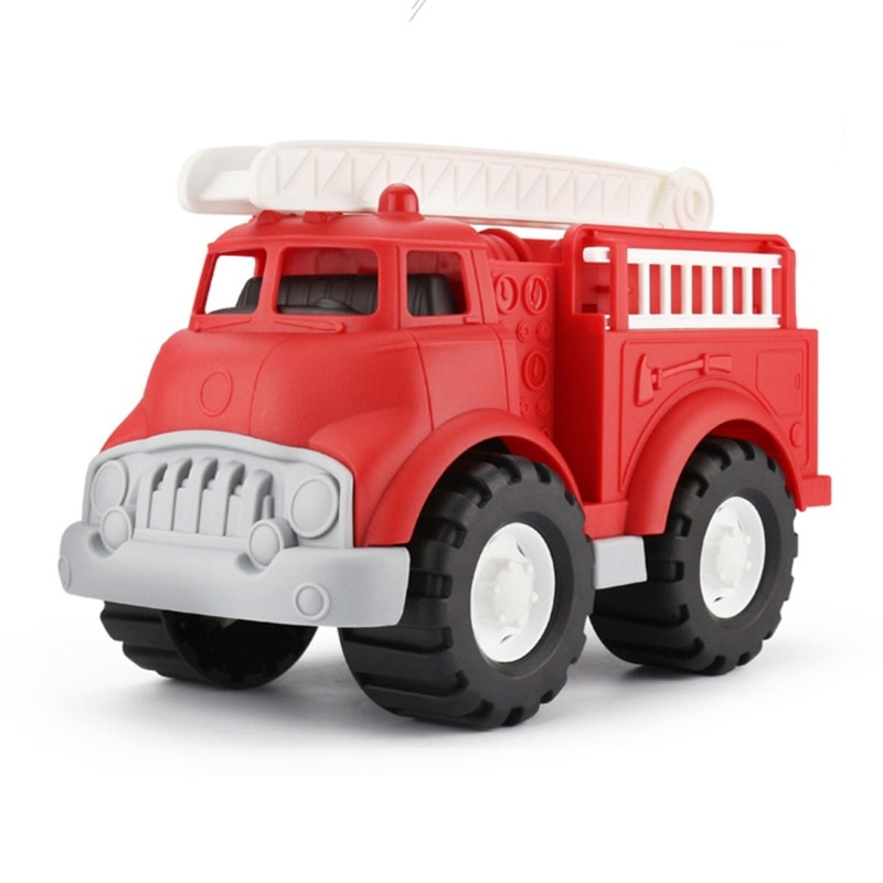 N7ME Cool Front Fire Anti-Collision Vehicle Flips Stunt Toy Car, 360° Rotating and Removable Ladder Fire