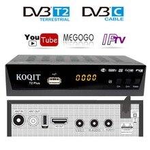 HD DVB T2 DVB C décodeur numérique Tv Box Dvb-t2 Tuner DVB-C VGA moniteur Wifi USB TV Tuner DVB T2 IPTV TV récepteur AC3 Youtube