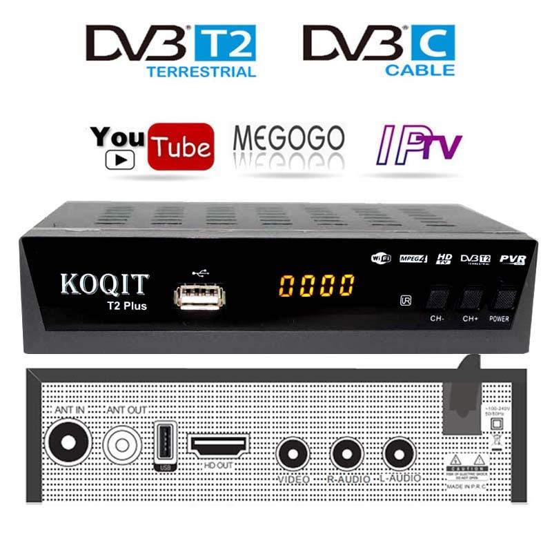 HD DVB T2 DVB C Set-top Box caja de Tv Digital Dvb-t2 sintonizador DVB-C Monitor VGA Wifi USB sintonizador de TV DVB T2 IPTV receptor de TV AC3 Youtube