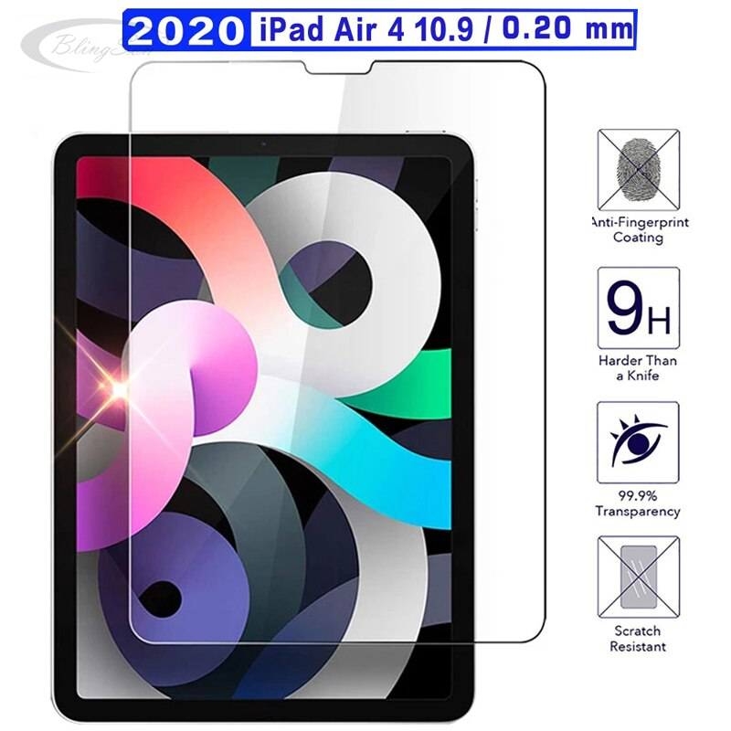 Screen Protector Tempered Glass for iPad iPad Air 2020 4th generation 10.9 inch Protective Film for iPad 10.9 Air 4 Glass Guard