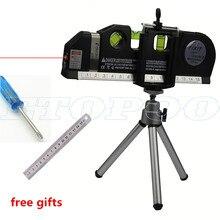 4 in 1 Infrared Laser Level Cross Line Laser Level Laser Horizon Vertical spirit level tool with 2.5m measure tape free gift !