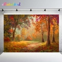 autumn leaves forest tree baby portrait backdrop photocall photography backdrops vinyl photographic background for photo studio