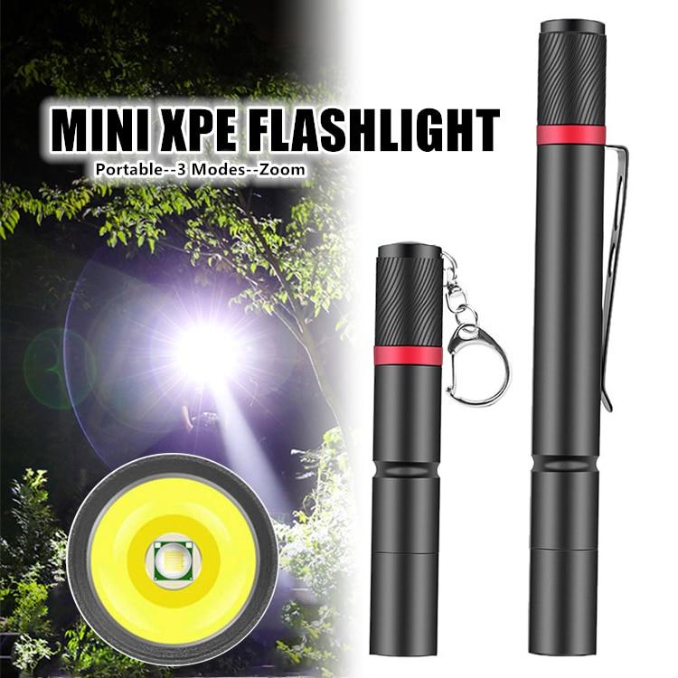 Portable Aluminum Alloy Mini Penlight Three-speed Adjustable Waterproof Design Outdoor Camping Light