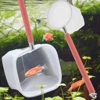 aquarium tank fish shrimp skimming net mesh extendable stainless steel handle