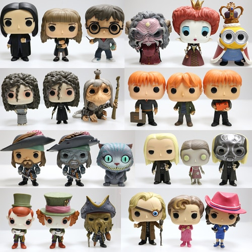 Funko original snape pop, rubeus, luna, dobb, bellatrix, cedric, sirius, neville, hermione, alice, chapeleiro figura solta brinquedo