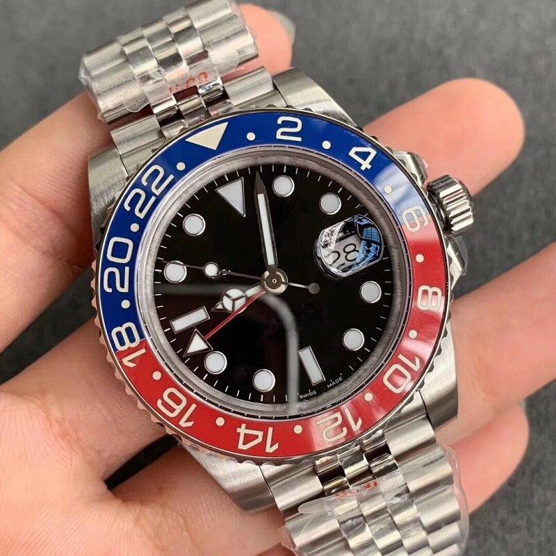 Reloj de pulsera Rolexable GMT Master II 126710, relojes mecánicos automáticos AAA, relojes rotativos de zafiro con esfera de cerámica luminosa de 40mm